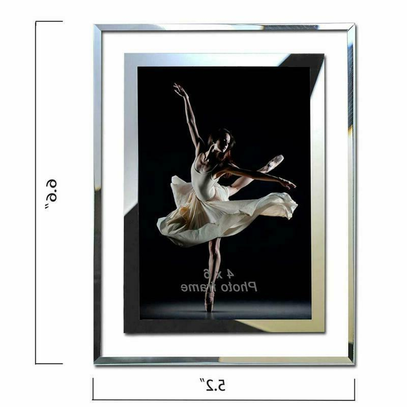 2 Mirror Frames 4x6 Glass Picture Frame For Home Office School