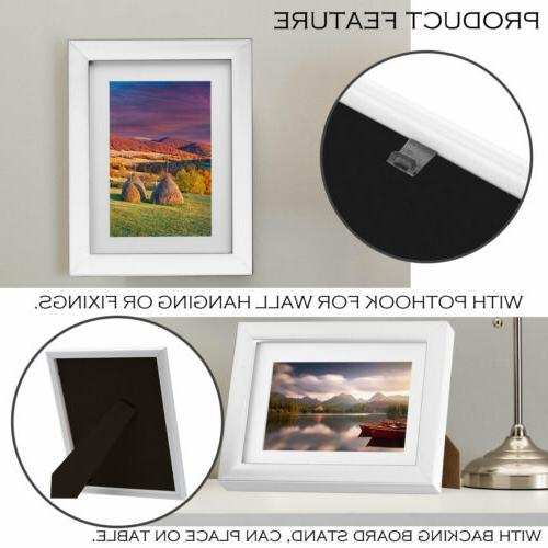 """4PCS Picture Photo Wall Frame Hanging Decor Wood White Modern 8x10"""""""