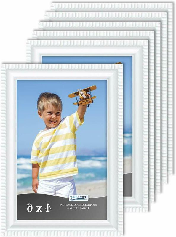 4x6 picture frames 6 pack white picture