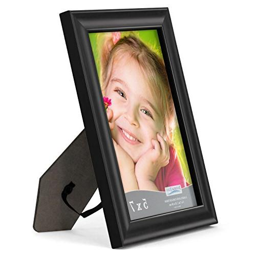 Icona Bay Frames Wood Wall Mount and Top, Landscape Black Portrait Frame 5x7, Collection