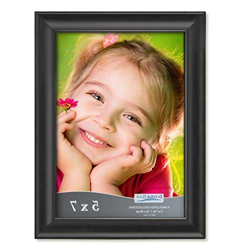 Icona Bay 5x7 Frames Wall Mount and Top, Black or Portrait 5x7, Lakeland Collection