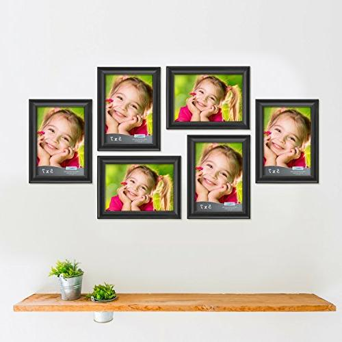 Icona Bay 5x7 Picture Frames Wood Wall Mount Top, Landscape Black Portrait as Picture Frame 5x7, Lakeland