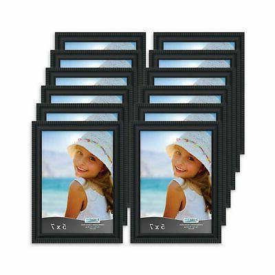 5x7 picture frames 12 pack black picture