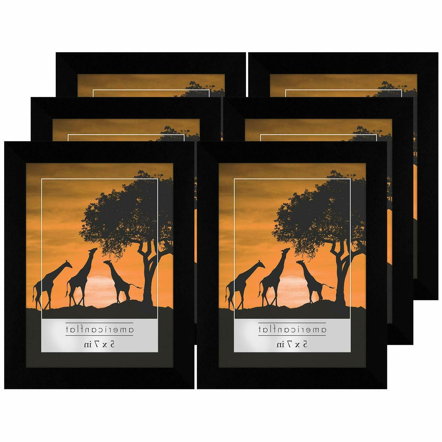 6 pack 5x7 picture frames display pictures