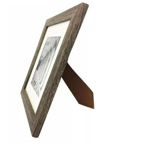 STUDIO 6-PACK~8x10-in Distressed Grey Picture Frames OFF-WHITE MATS