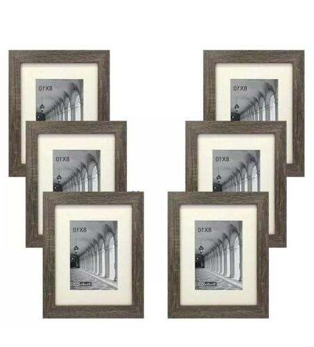 6 pack 8x10 in distressed grey picture