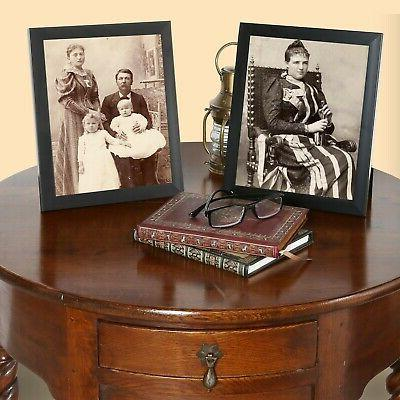 """6-Piece Picture Frame for 8""""x10"""" Back & Black"""