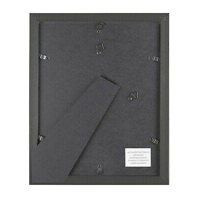 """6-Piece Picture for 8""""x10"""" Photos, Easel Back Wall Black"""