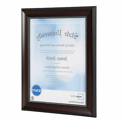 """8.5"""" Document and Frame"""