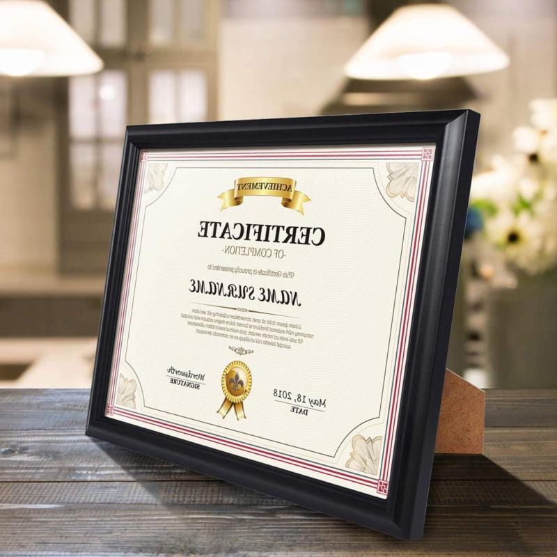 Calenzana 8.5x11 Document Diploma Frame Black Picture Frames 1