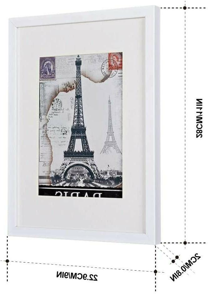 8 x 10 white wooden picture frames