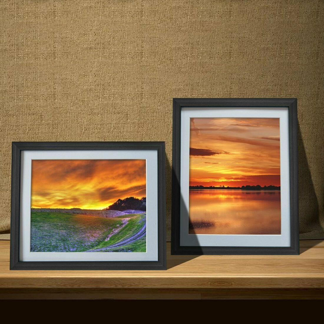 8x10 Black Picture with Mat or Table Top Set of 6