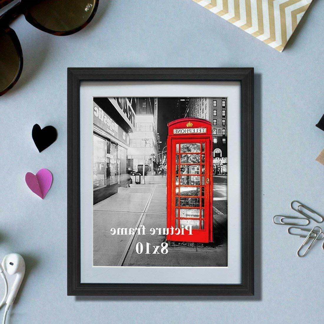 8x10 Black Frames with for Wall or Decoration Set of