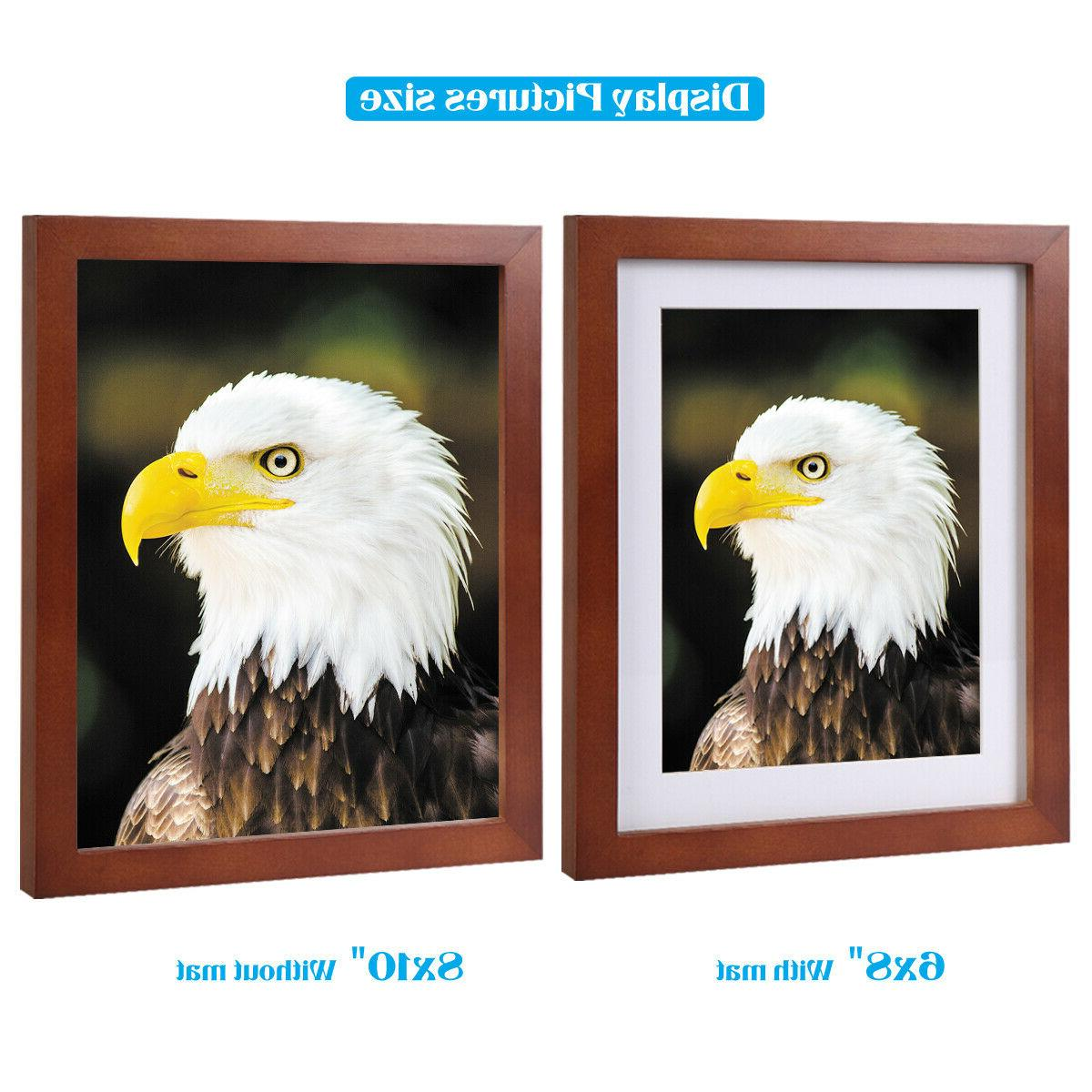8x10 Picture Table Display brown