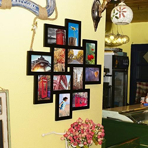 """Adeco Decorative Wall Collage Picture Photo 12 4x6"""""""