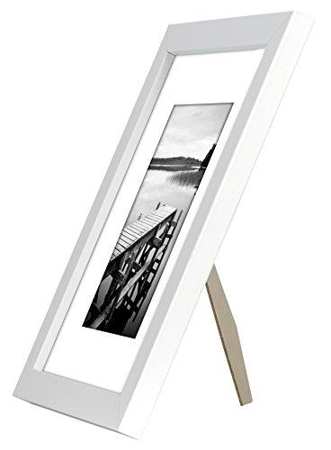Americanflat White Frame - to Display 5x7 8x10 Without Highest Quality Ready to on Table Top