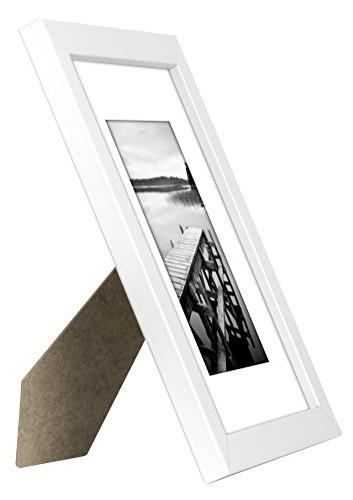 Americanflat 8x10 Frame Matted to Display Photographs 8x10 Highest Materials Ready to Table Top