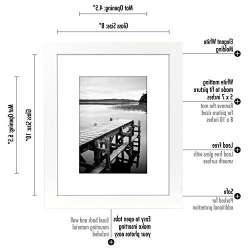 Americanflat White Picture Frame - Display 8x10 Without Mat Highest Ready Display Table Top