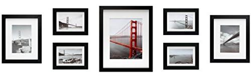 Frametory, Gallery Wall Frame Collection,Set of 7,Black Phot