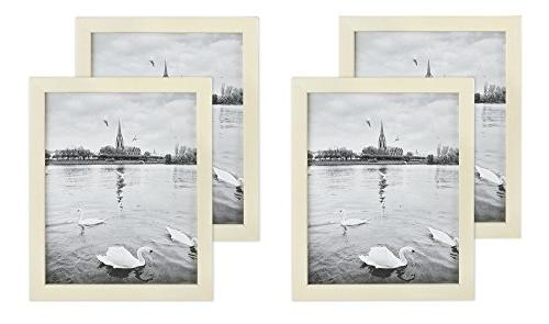 Golden State Art Set of 4, 8x10 Simple Style Wood Picture Fr