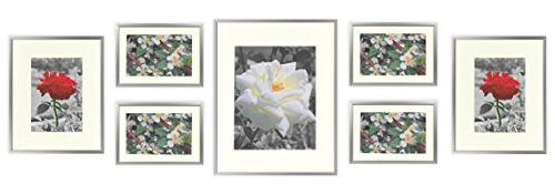 Golden State Art Set of 7 Frames, Aluminum Metal Photo Frame