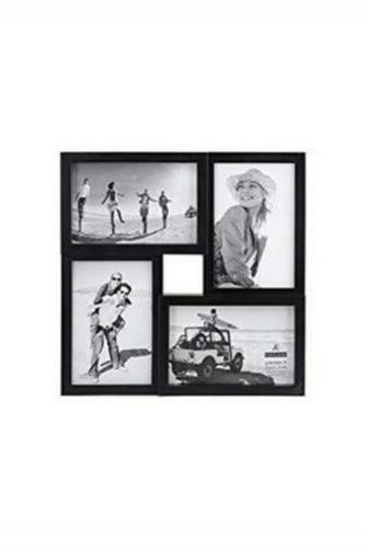 Malden 4x6 4-Opening Collage Matted Picture Frame - Displays