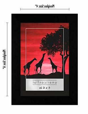 Americanflat Black 12 Pack Picture Frames 4x6