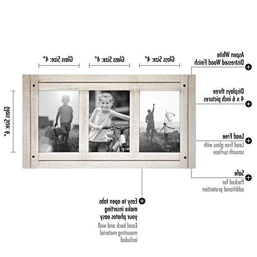 Americanflat 4x6 - Made to Three Photos White Hang on Stand Tabletop