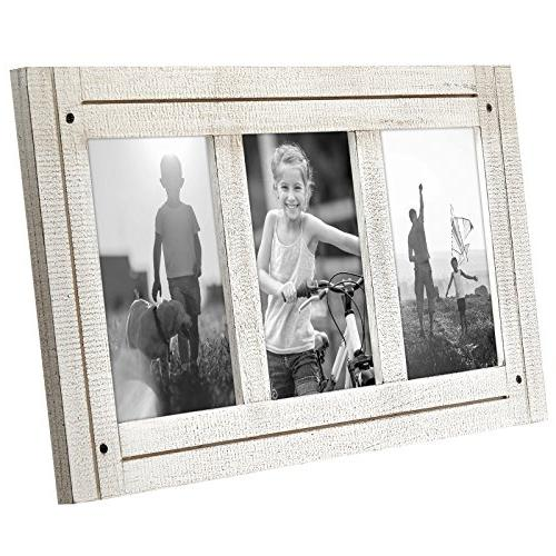 Americanflat 4x6 Collage - Made Three 4x6 Photos White - Hang