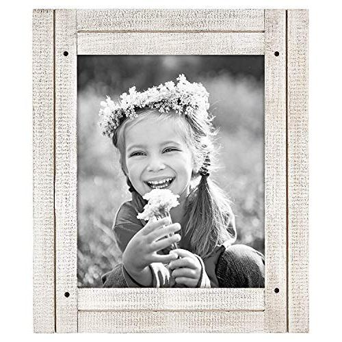 Americanflat 4x6 Aspen Collage - to Three 4x6 Photos White Hang Wall or Stand on
