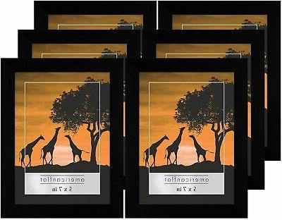 Americanflat Black Frame- 6 Pack- Available in 4x6,