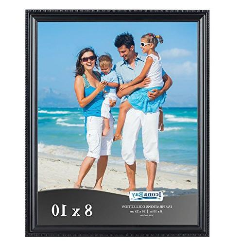 Icona Bay 8x10 Black Picture Frames Bulk , Wall Display 8x10 Photo Horizontally Collection