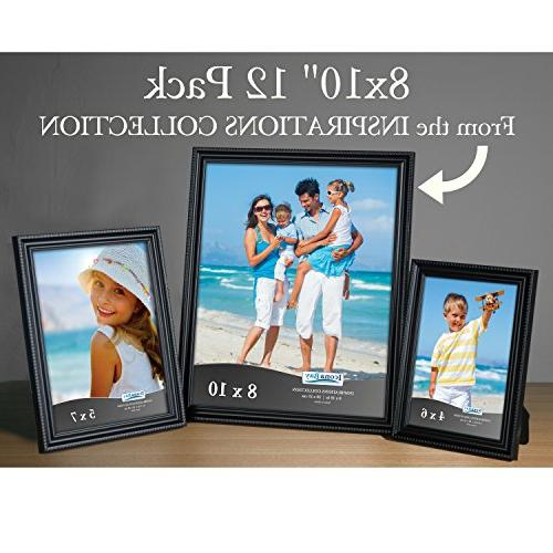 Icona 8x10 Picture Frames Set , and Top Easel, Display Horizontally or Vertically, Collection
