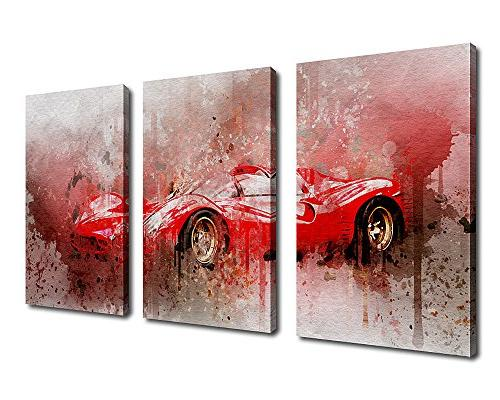 canvas wall car painting picture