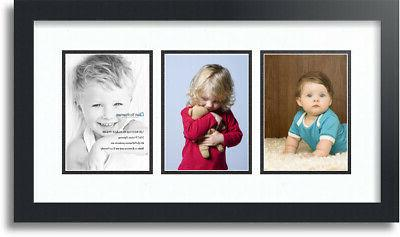 "ArtToFrames Collage Mat Picture Photo Frame - 3 5x7"" Opening"