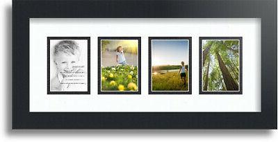 "ArtToFrames Collage Mat Picture Photo Frame - 4 2.5x3.5"" Ope"