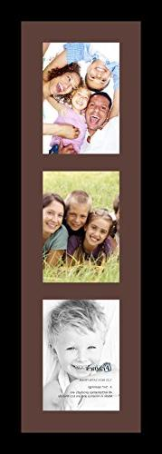 ArtToFrames Collage Photo Frame Single Mat with 3 - 5x7 Open