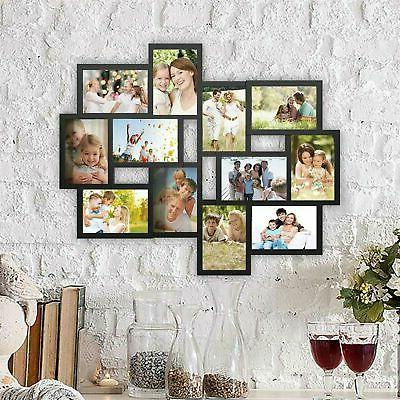collage picture frame holds 12 images wall