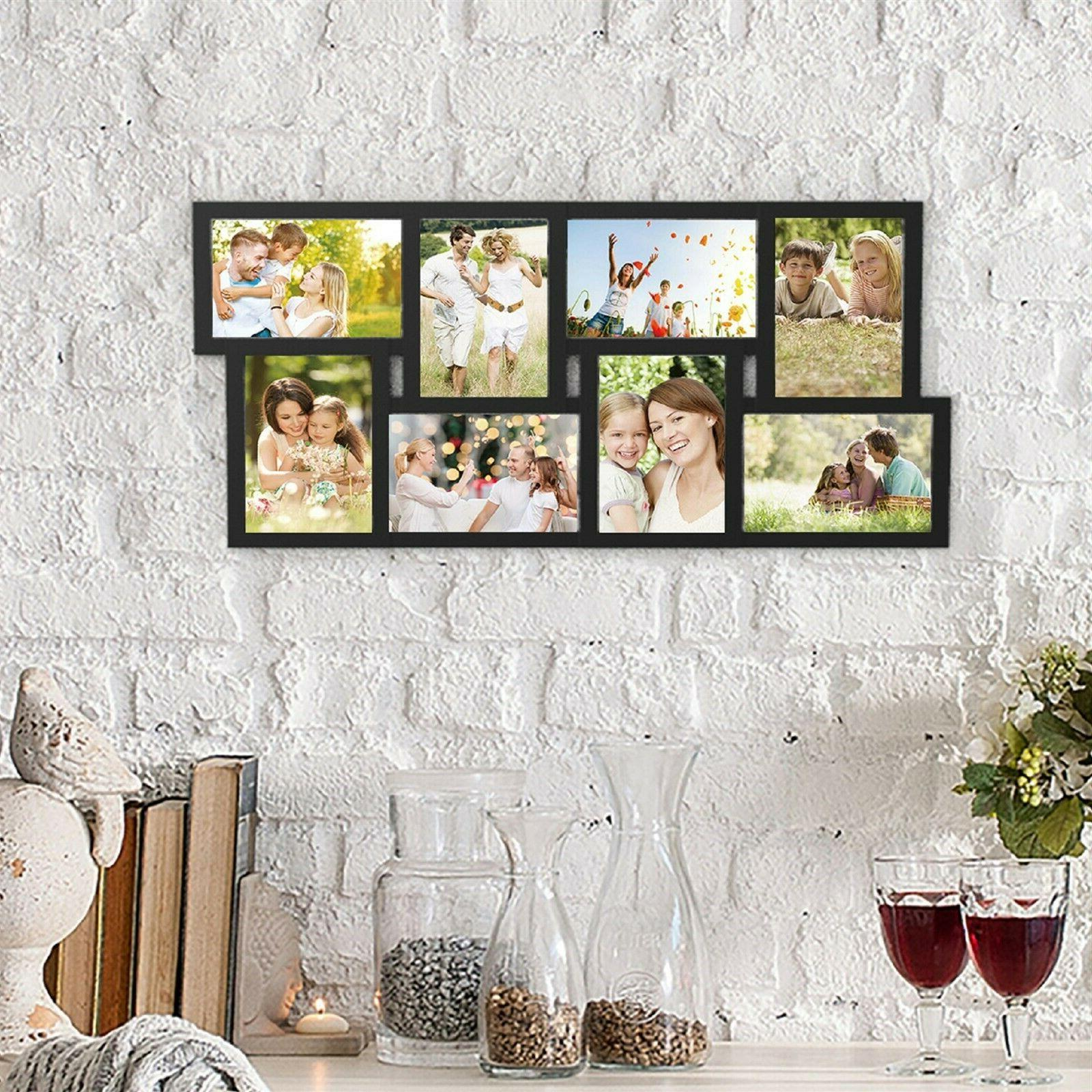 Collage Picture Frame Holds 8 Images 4 X 6 Vertical or Horiz