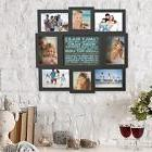 Collage Picture Frame Holds 8 Images Family Rules Wall Hangi