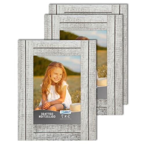cottage picture frames distressed wood look farmhouse