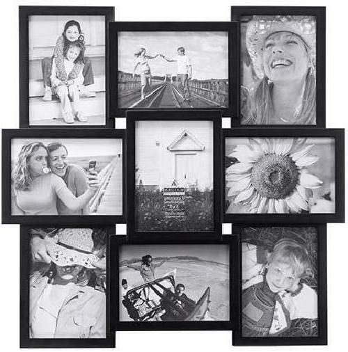 Crossroads Puzzle Collage Picture Frame 9 Option 9-5x7 Black