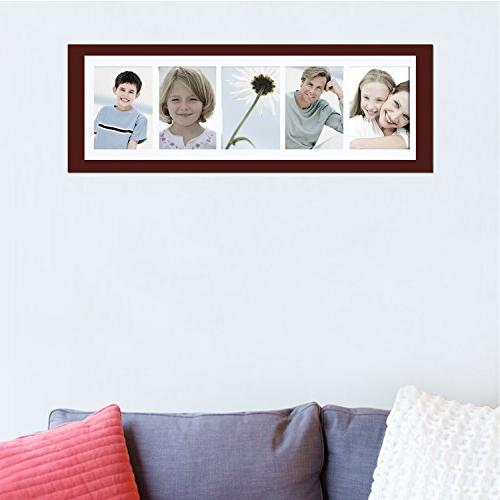Adeco Openings Walnut Wood Decorative Photo Picture Made 5x7 Photos