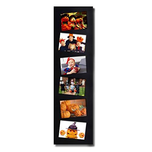 Adeco Decorative Black Wall collage Picture Photo Frame, 6 Slanted Tilted inches