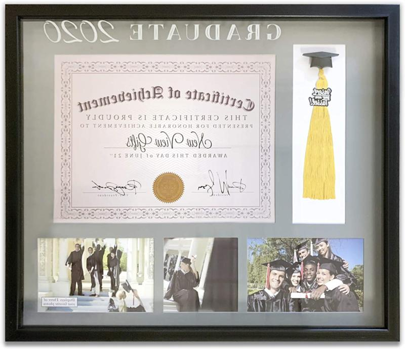 diploma and tassel holder with 3 photo
