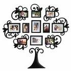 12-Piece Family Tree Photo Picture Frame Collage Set Black W
