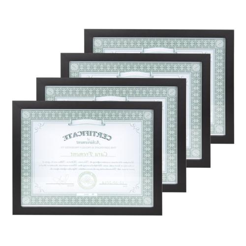 Gallery 8.5x11 Black Wood Document Frame, Set of 4