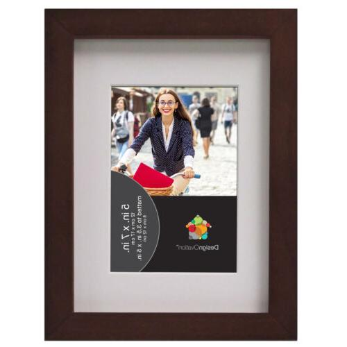 gallery solid wood picture frames walnut brown