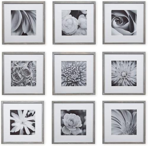 gallery wall kit square photos with hanging