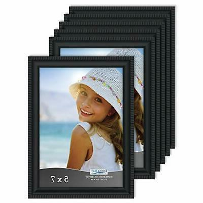 Icona Bay 5 x 7 Inch Picture Frames,  Bulk Set, Black, Wall